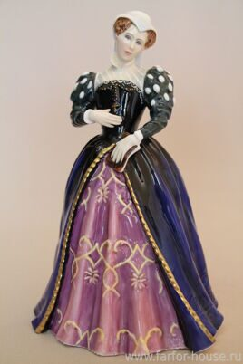 Фарфоровая статуэтка «Mary, Queen Of Scots» из серии «Queens Of The Realm» Royal Doulton